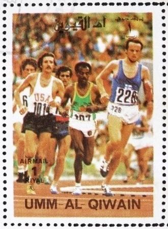 10k_at_1972_Olympics_Umm_al-Quwain_stamp